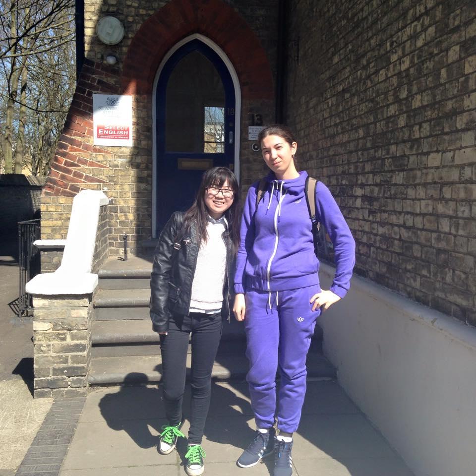 Lily and Alina Select English Cambridge students