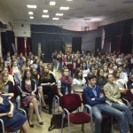 Attentive group of students from the Russian Education Trip