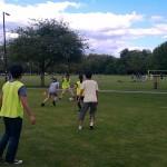 Enjoying a game of football at Select English