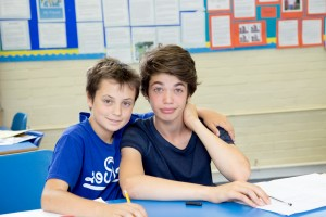 2 boys in the classroom