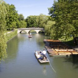 Photo of the River Cam with Punts in the summer