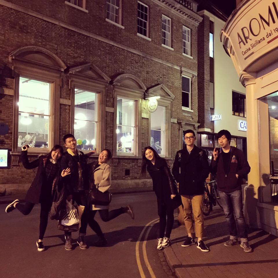having fun in Cambridge