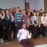 Alex with the students from Russia