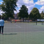 A game of Tennis in sunny Cambridge